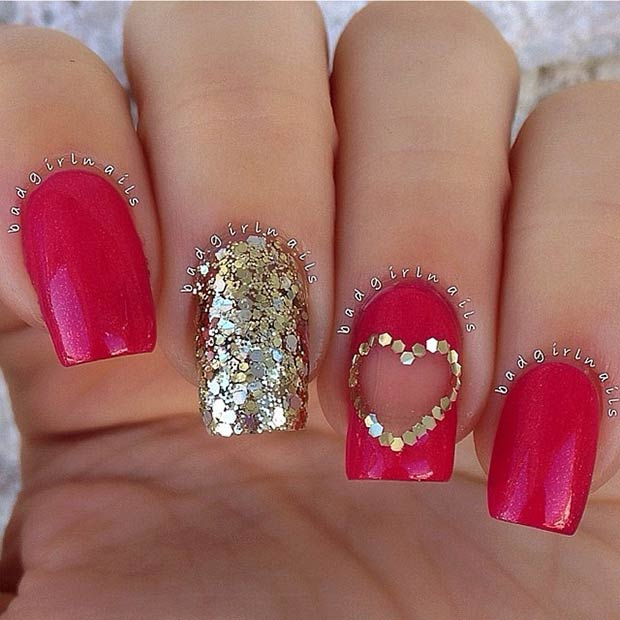 35 Cute Valentine S Day Nail Art Designs Page 5 Foliver Blog