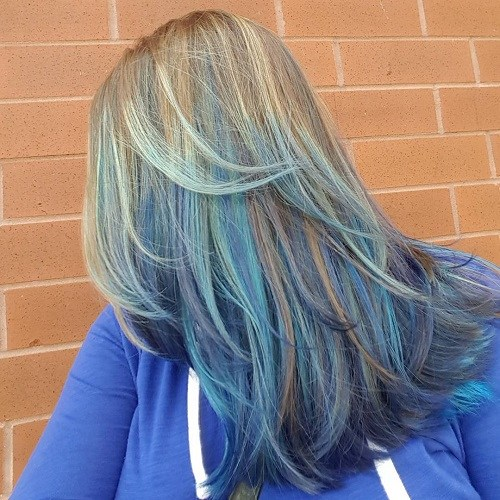 5 blue balayage for light brown hair