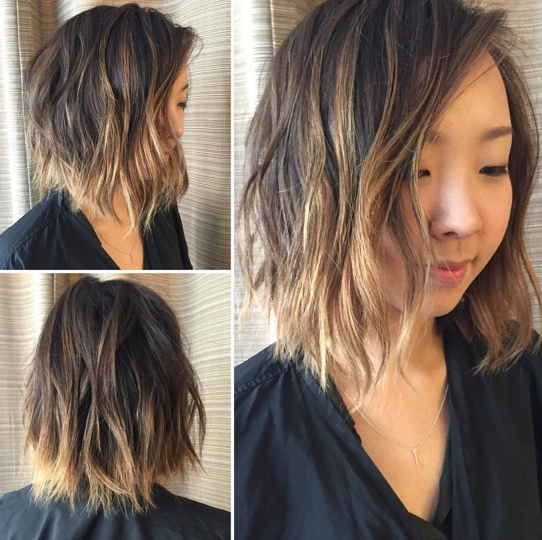 60 balayage hair color ideas with blonde brown caramel and red 55 choppy waves with ombre highlights source solutioingenieria Choice Image