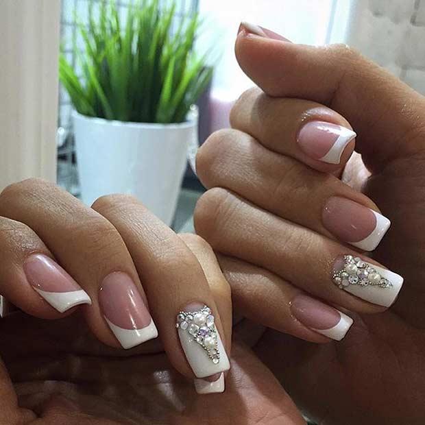 31 Elegant Wedding Nail Art Designs – Page 7 – Foliver blog