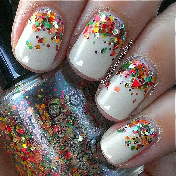21 amazing thanksgiving nail art ideas page 7 foliver blog 7 ombr sequin fade prinsesfo Image collections