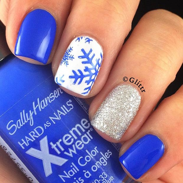 31 Cute Winter Inspired Nail Art Designs Page 8 Foliver Blog