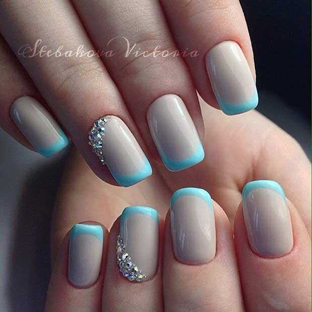 Light blue nail polish designs gallery nail art and nail design 31 cool french tip nail designs page 9 foliver blog 9 light blue french tip nails prinsesfo Image collections