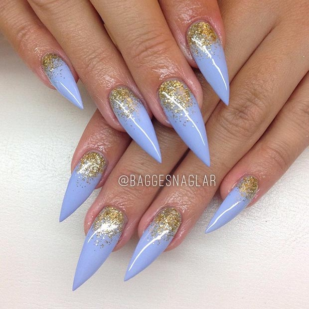 1 Baby Blue + Glitter