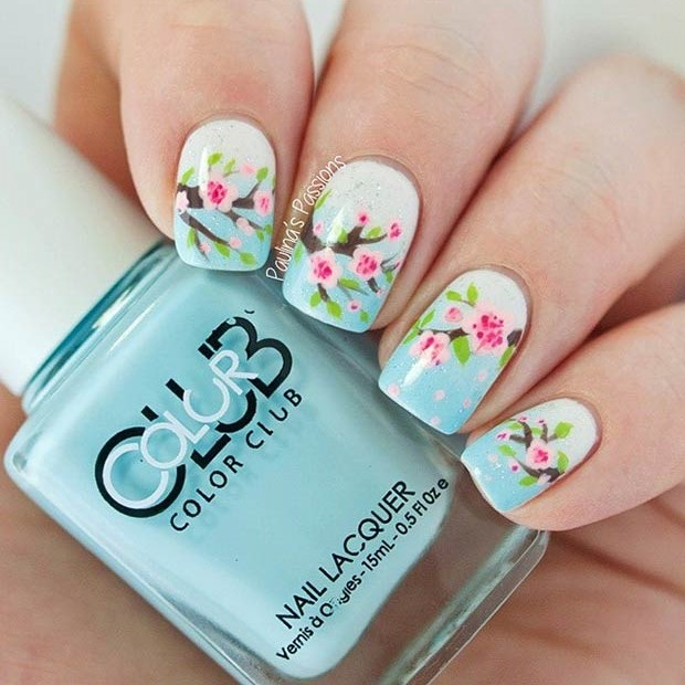 1 Gorgeous Cherry Blossom Nails