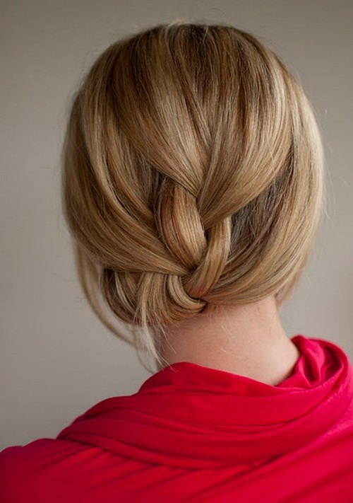 1 easy braided updo