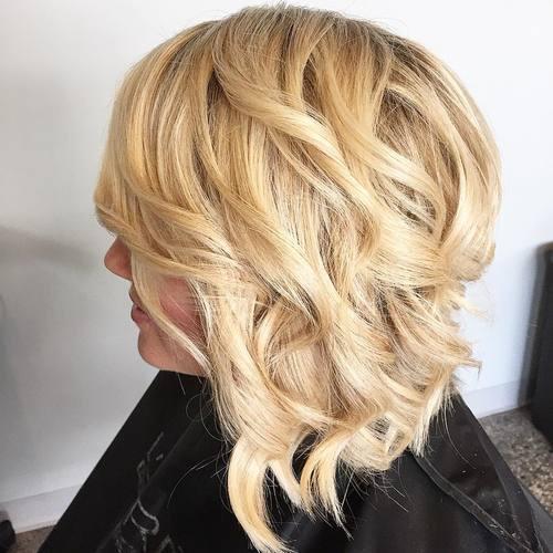 1 long wavy angled bob hairstyle