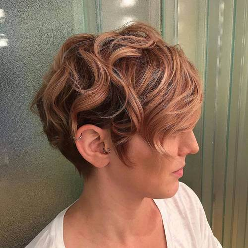 1 long wavy pixie with highlights
