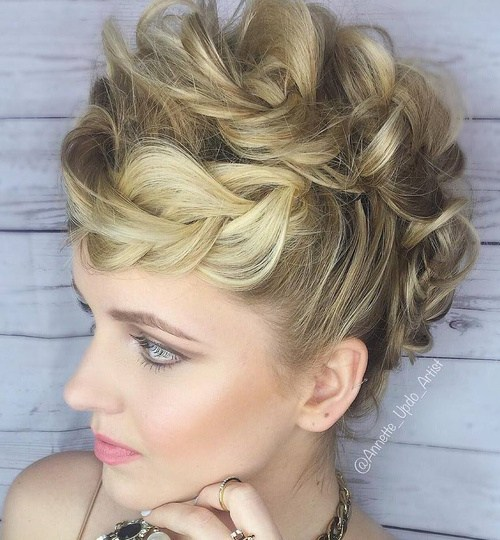1 messy braided updo