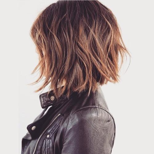 1 shaggy medium length bob