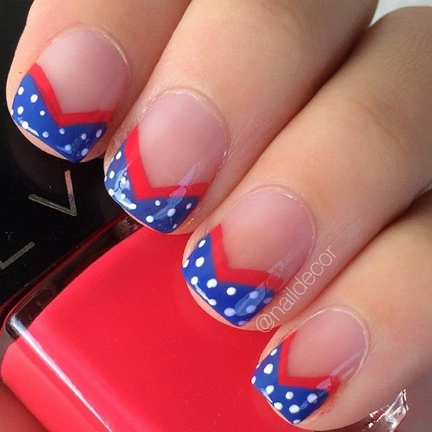 10 4th of July Nail Design for Tips