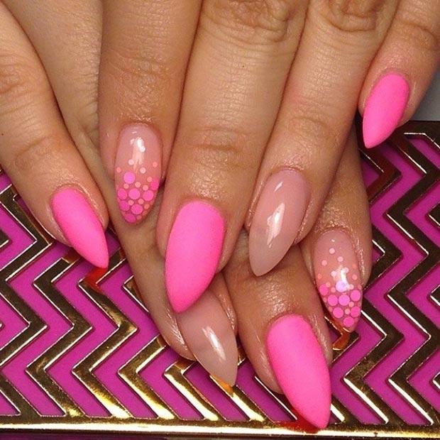 10 Matte Neon Pink + Nude