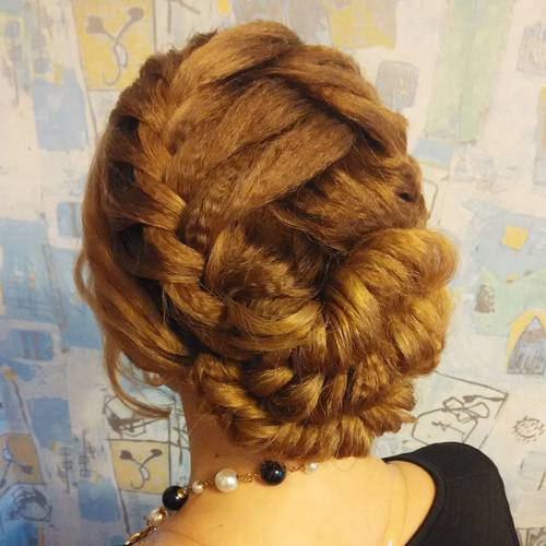 10 fancy braided updo for long hair