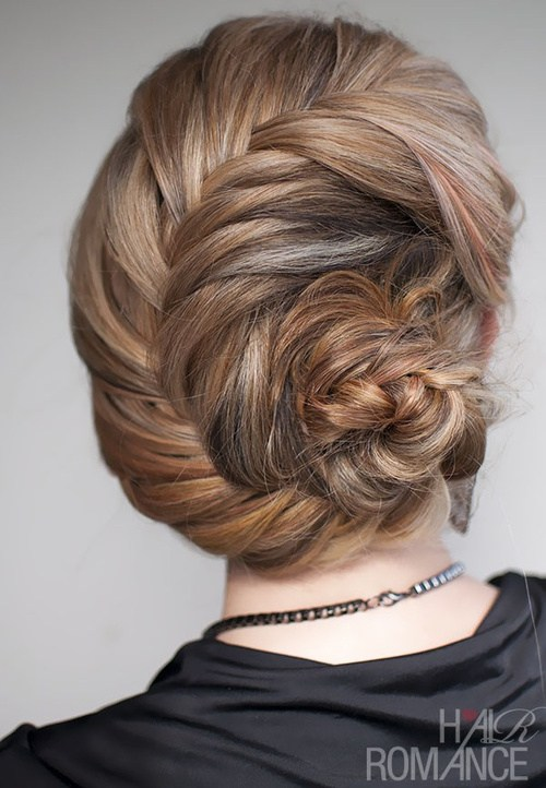 10 fishtail chignon formal updo