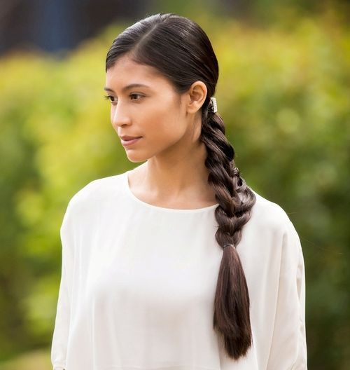 10 polished loop braid hairstyle for long hair