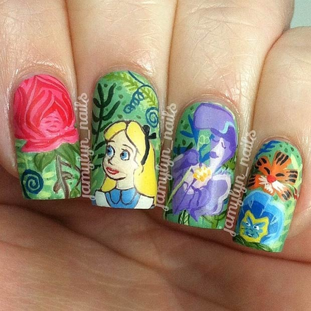 11 Colorful Alice in Wonderland Design