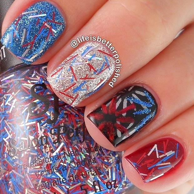 11 Firework Nail Art