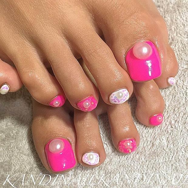 11 Pink Nails + Pearls