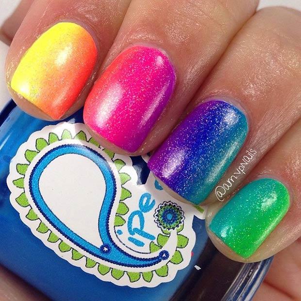 11 Rainbow Nails