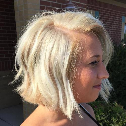 11 blonde tousled bob hairstyle