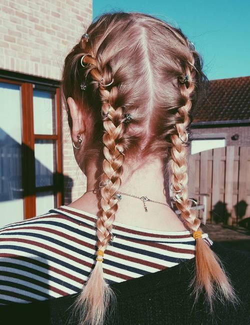 11 medium length pigtails for fine hair