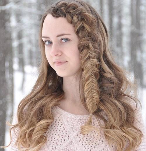11 side braid hairstyle