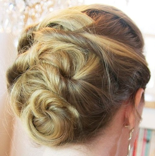 11 three minute woven updo