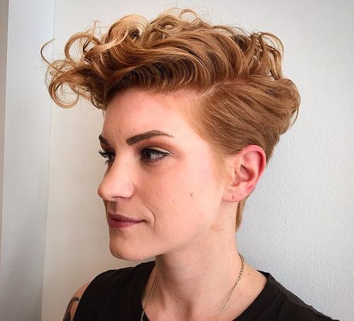 11 womens short tapered haircut with curly top