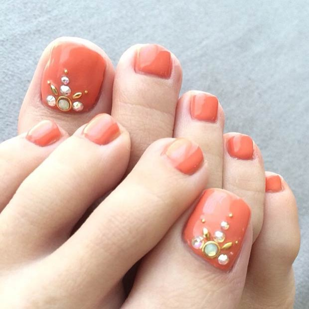 30 Majestic Fall Toe Nail Designs Images For 2019: 31 Adorable Toe Nail Designs For This Summer