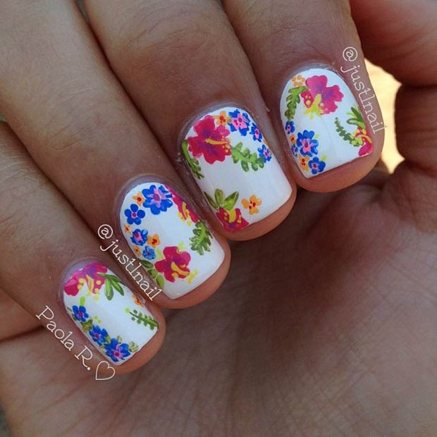 50 Flower Nail Designs For Spring Page 12 Foliver Blog