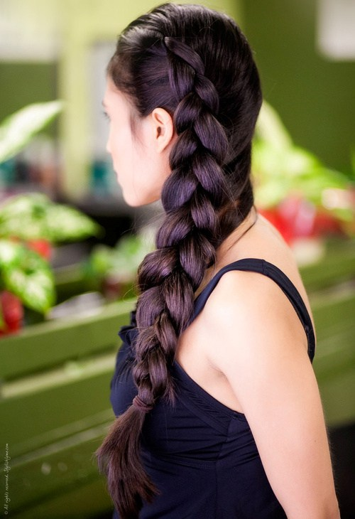 12 big side braid