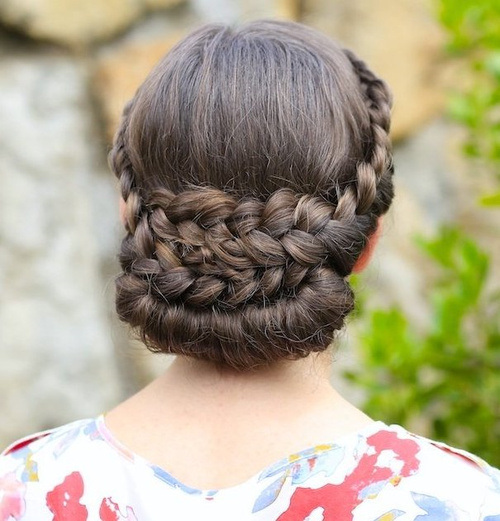 12 braided formal updo