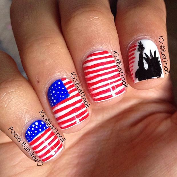 13 American Flag + Statue of Liberty
