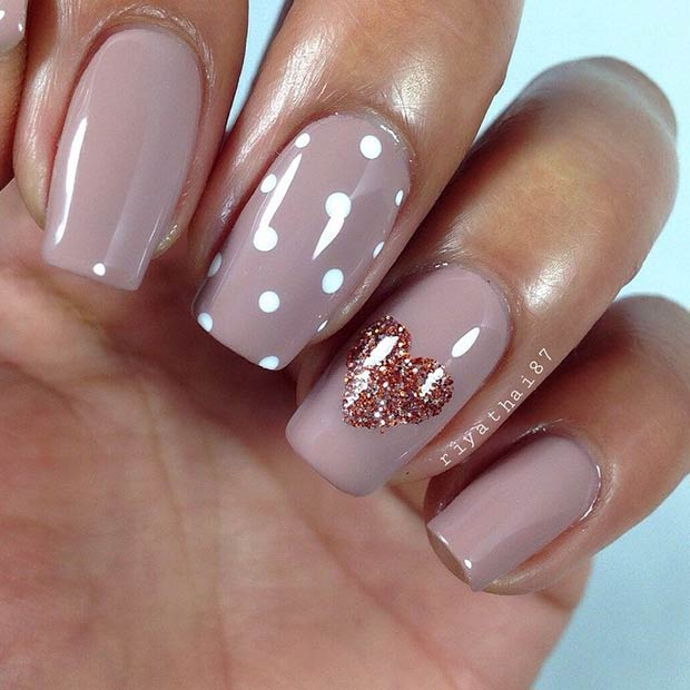 50 best nail art designs from instagram page 13 foliver blog 13 dark nude nail design prinsesfo Images