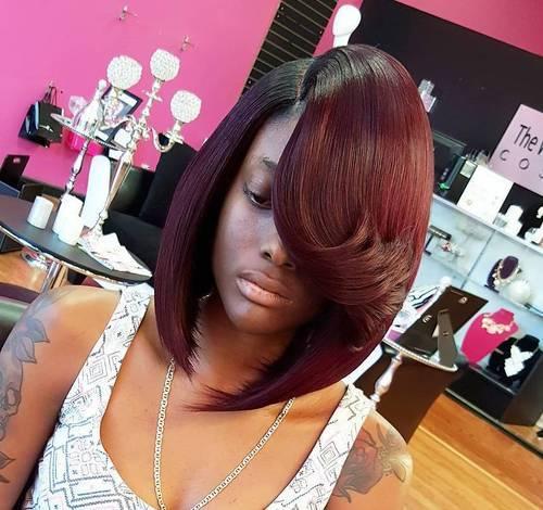 13 asymmetrical long bob for black women