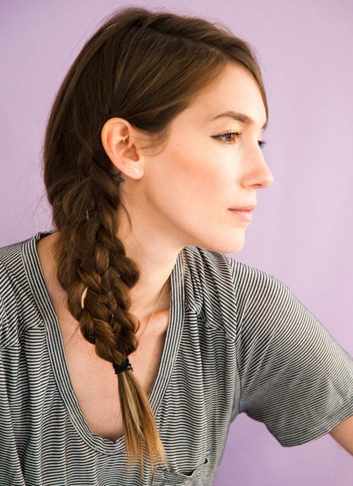 13 mermaid tail side braid hairstyle