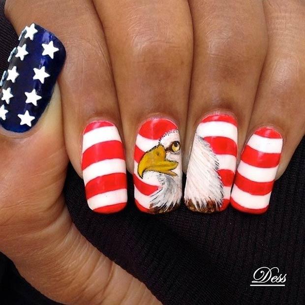 14 American Flag + Bald Eagle Design