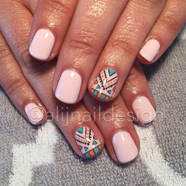 14 Tribal Accent Nail