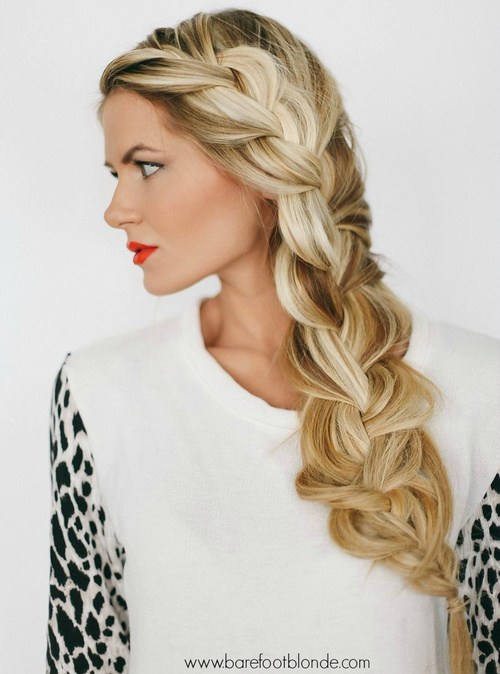 14 messy and loose side braid