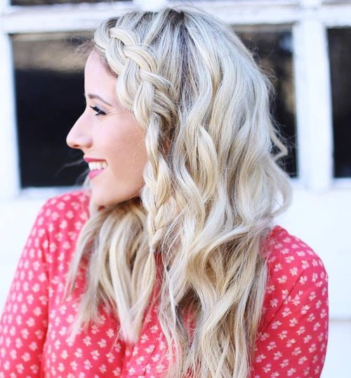 14 simple downdo with a side braid