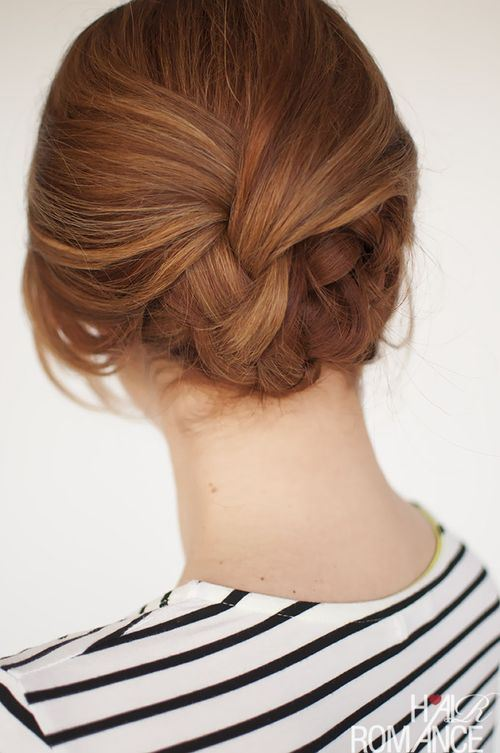 15 Easy Plaited Updo Hairstyle