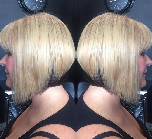 15 straight bob cut with low lights