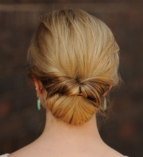 16 twisted chignon formal updo