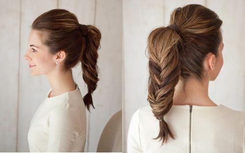 17 chunky ponytail fishtail braid