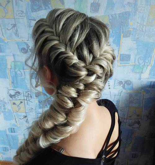 17 looped fishtail for long thick hair