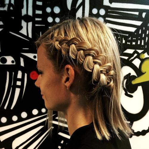 17 side braid hairstyle for shorter hair