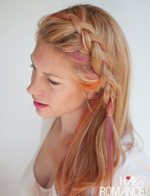 17 small dutch side braid hairstyle