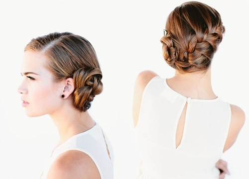 18 elegant side bun updo with a braid