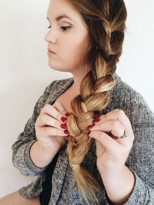 18 loose side braid for long hair