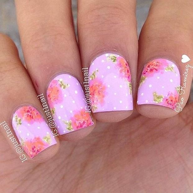 19 Pink & Gold Flower Design